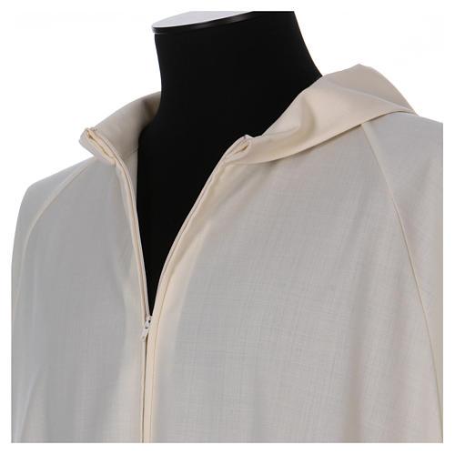 Camice avorio 100% pura lana cerniera davanti 3