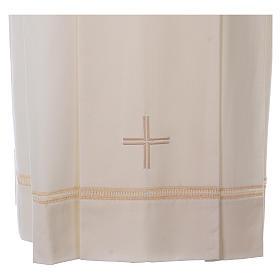 Camice cotta avorio 55% lana 45% poliestere cerniera spalla s2