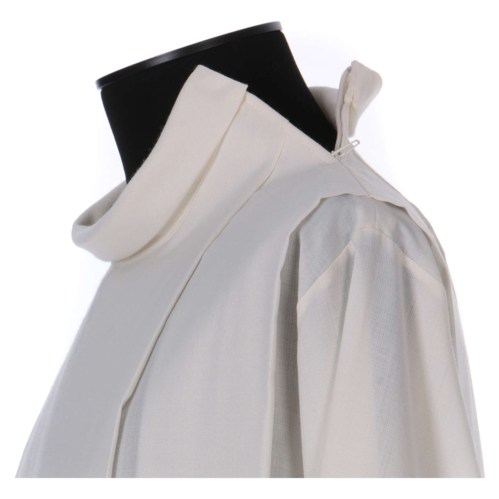 Alba marfil 55% lana 45% poliéster cremallera hombro 4
