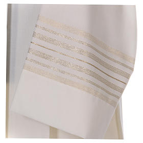 Alba marfil 55% lana 45% poliéster cremallera hombro s2