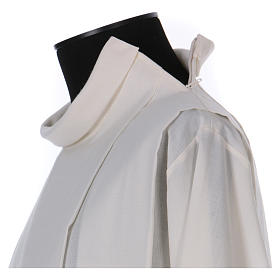 Alba marfil 55% lana 45% poliéster cremallera hombro s3