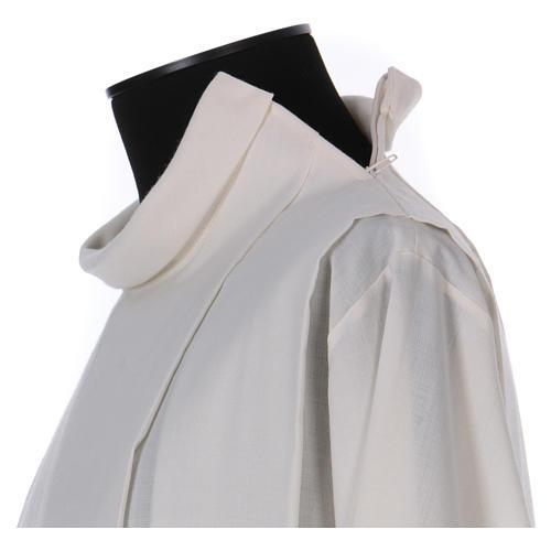 Alba marfil 55% lana 45% poliéster cremallera hombro 3