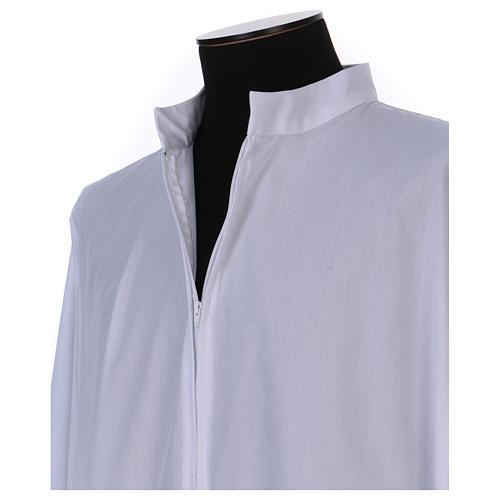 Alba blanco 65% poliéster 35% algodón cremallera delante 3