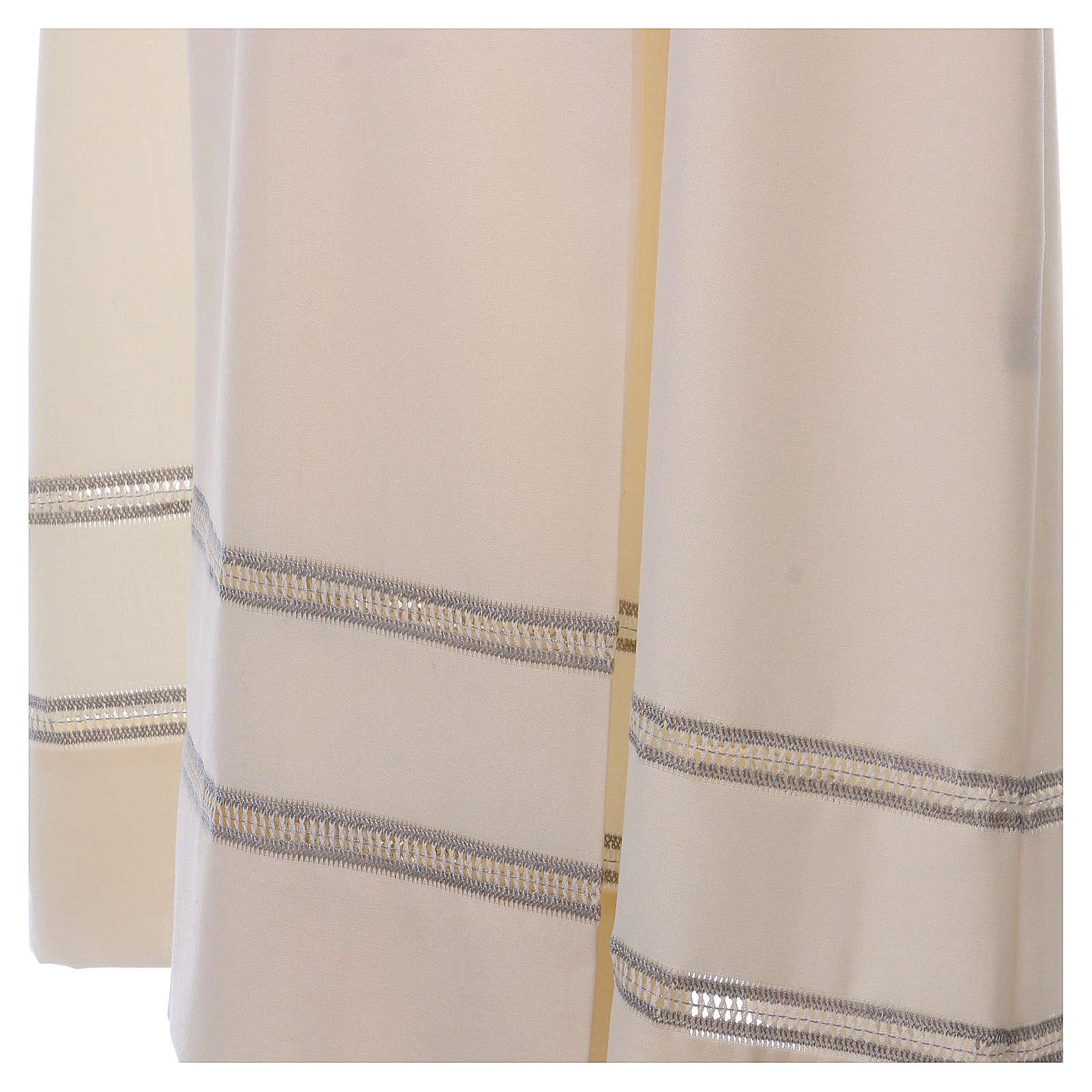 Camice avorio 55% lana 45% poliestere cerniera davanti gigliuccio 4