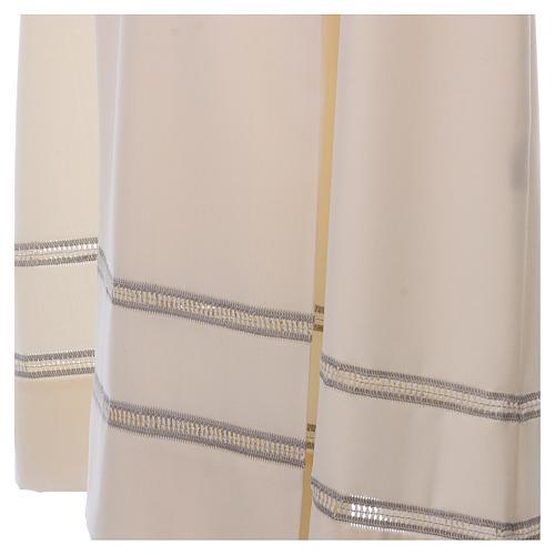 Camice avorio 55% lana 45% poliestere cerniera davanti gigliuccio 3