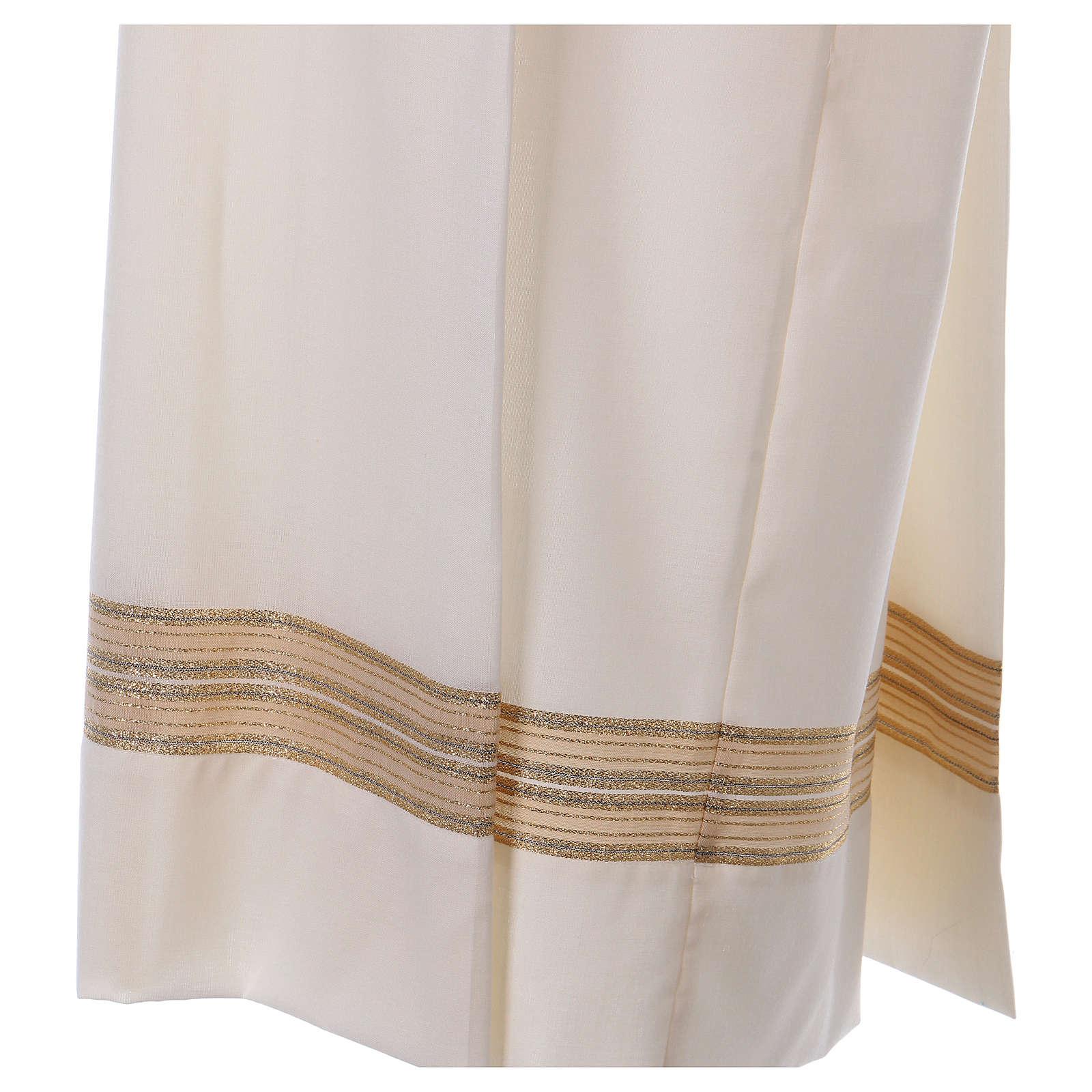 Camice avorio 55% poliestere 45% lana cerniera spalla 4