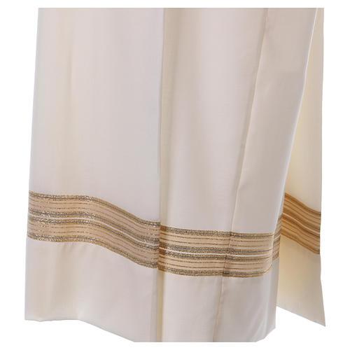 Camice avorio 55% poliestere 45% lana cerniera spalla 3