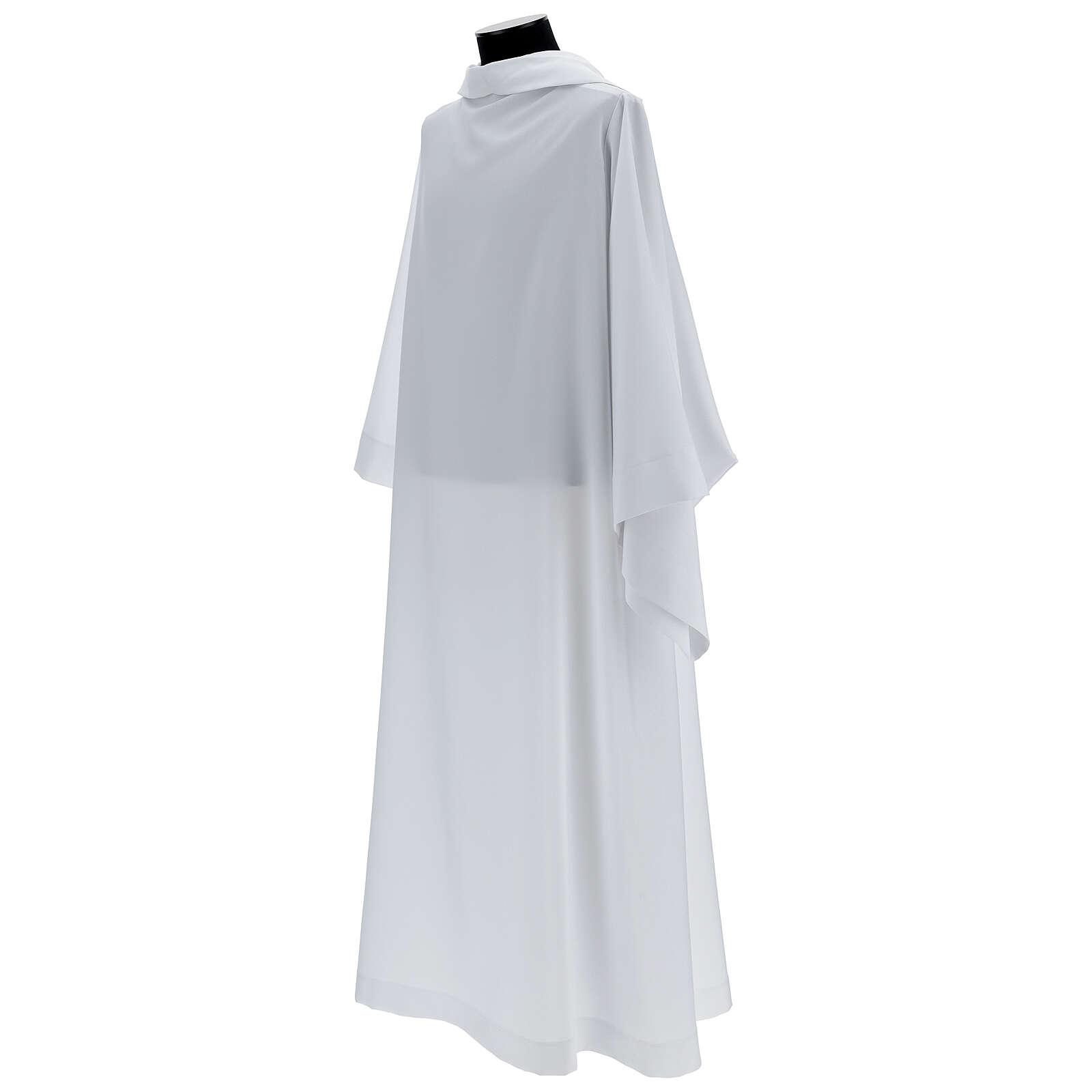 Alba blanco 100% poliéster con capucha 4