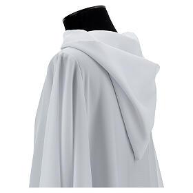 Alba blanco 100% poliéster con capucha s2