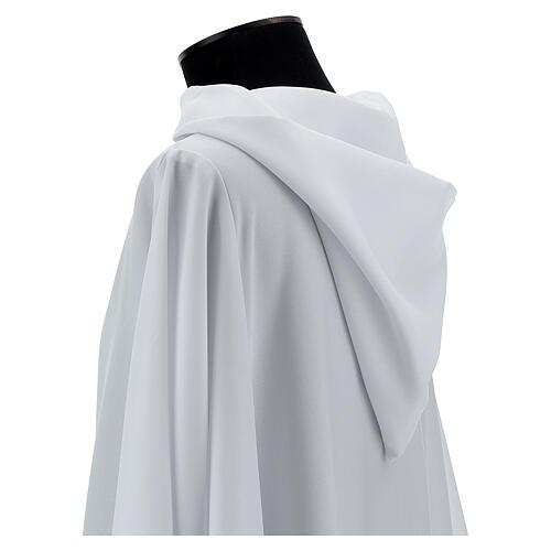 Alba blanco 100% poliéster con capucha 2