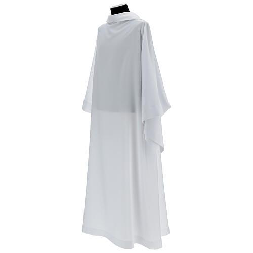 Alba blanco 100% poliéster con capucha 3