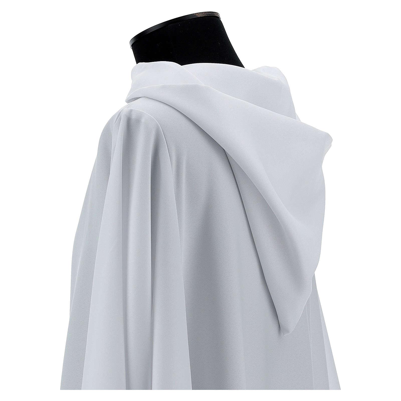 Camice bianco 100% poliestere con cappuccio 4