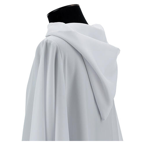 Camice bianco 100% poliestere con cappuccio 2