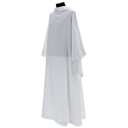 Camice bianco 100% poliestere con cappuccio 3