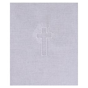 Amito de algodón con cruz blanca bordada s2