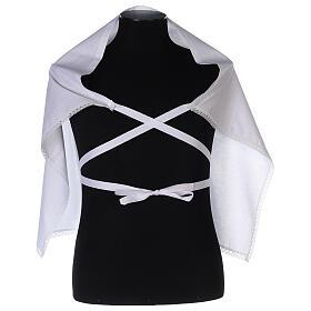 Amito de algodón con cruz blanca bordada s3