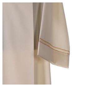 Aube 55% laine 45% polyester couleur ivoire ourlet à jour brodé main et fermeture éclair avant s2