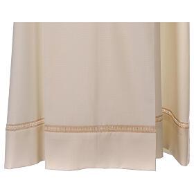 Aube 55% laine 45% polyester couleur ivoire ourlet à jour brodé main et fermeture éclair avant s3