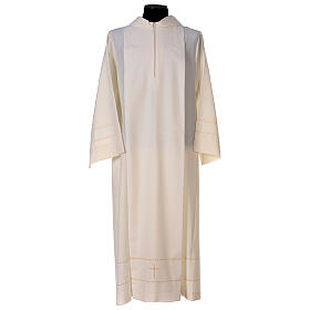 Aube ivoire décoration dorée 55% laine 45% polyester s1