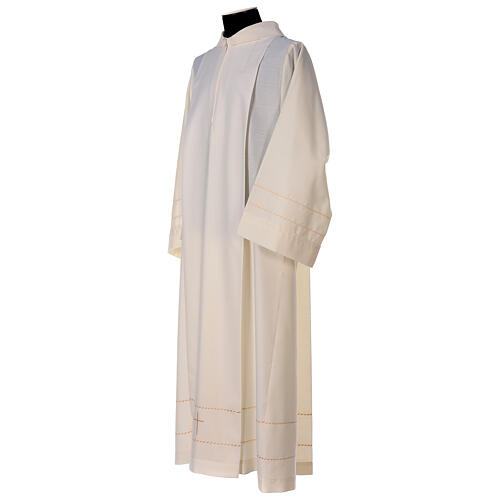 Aube ivoire décoration dorée 55% laine 45% polyester 5