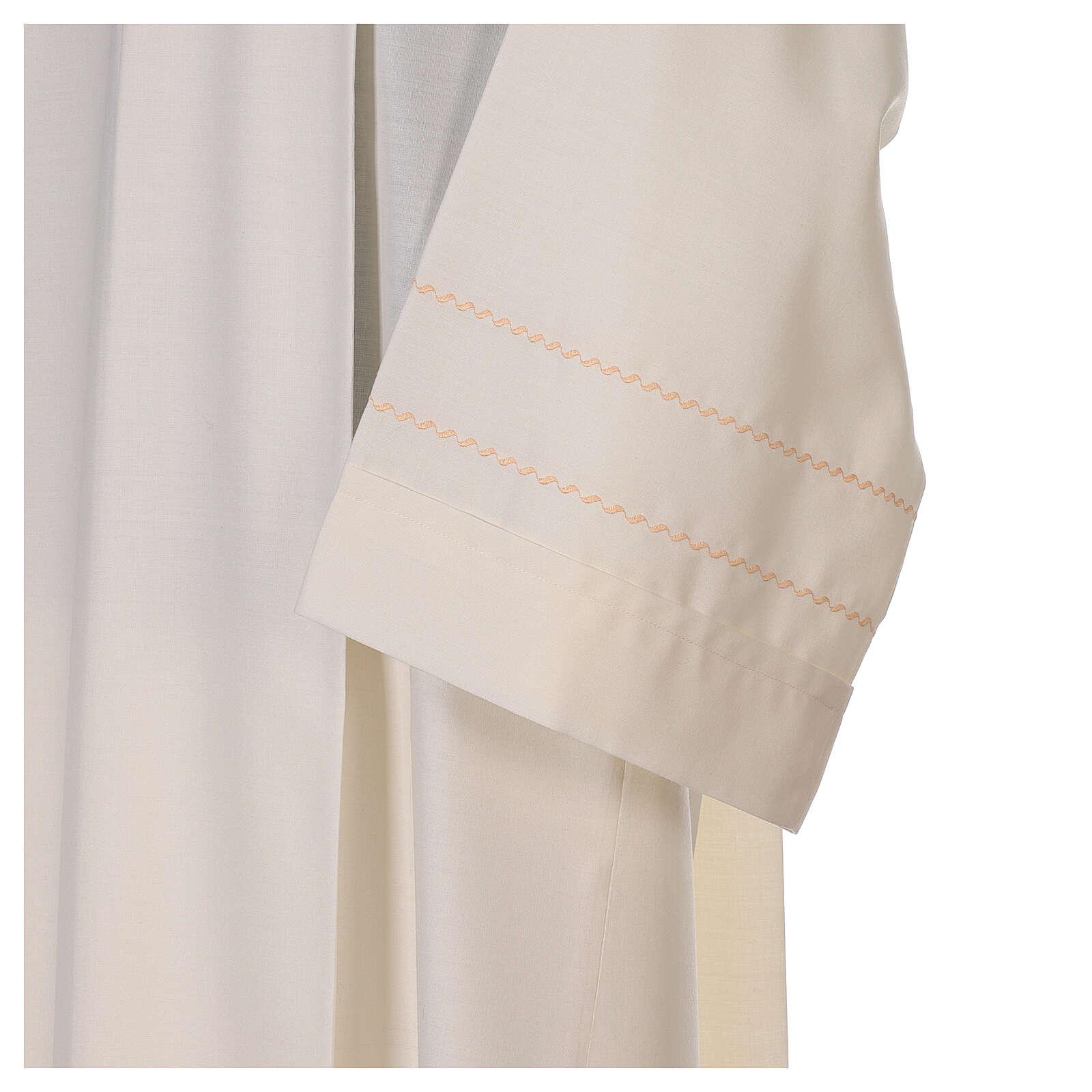 Camice avorio decorazione dorata 55% lana 45% poliestere 4