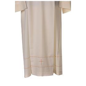 Camice avorio decorazione dorata 55% lana 45% poliestere s2