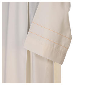 Camice avorio decorazione dorata 55% lana 45% poliestere s3