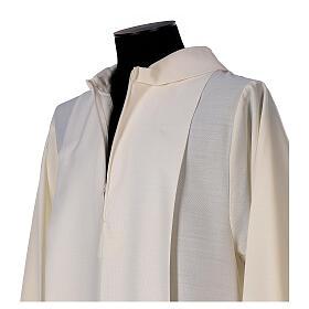 Camice avorio decorazione dorata 55% lana 45% poliestere s4