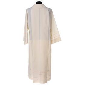 Camice avorio decorazione dorata 55% lana 45% poliestere s6