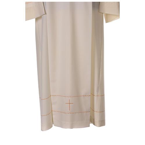 Camice avorio decorazione dorata 55% lana 45% poliestere 2