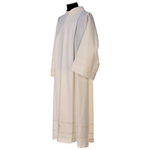 Camice avorio decorazione dorata 55% lana 45% poliestere 5