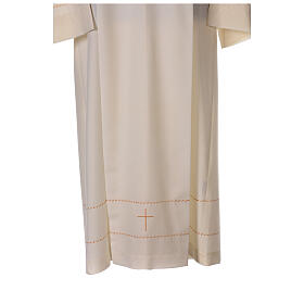 Ivory alb with golden decorations 55% wool 45% polyester s2