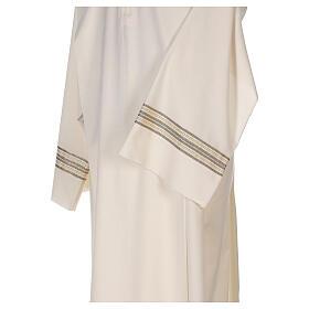 Alba 55% poliéster 45% lana rayas oro marfil s2