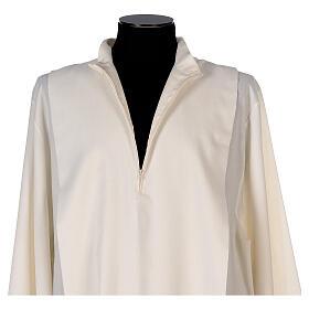 Alba 55% poliéster 45% lana rayas oro marfil s5