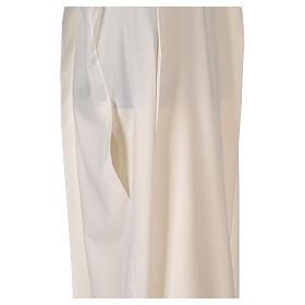 Alba 55% poliéster 45% lana rayas oro marfil s6