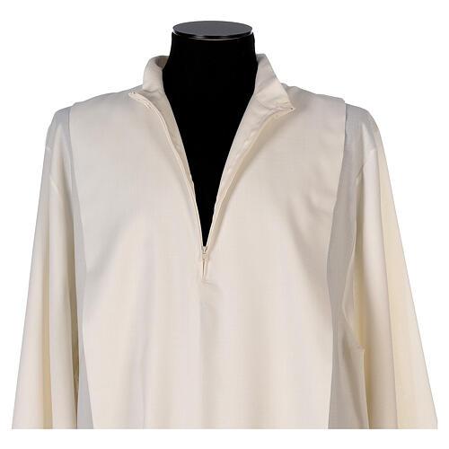 Alba 55% poliéster 45% lana rayas oro marfil 5