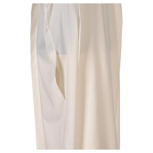 Alba 55% poliéster 45% lana rayas oro marfil 6