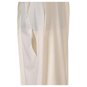 Aube 55% polyester 45% laine rayures or ivoire s6