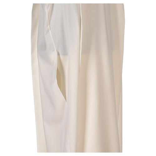 Aube 55% polyester 45% laine rayures or ivoire 6