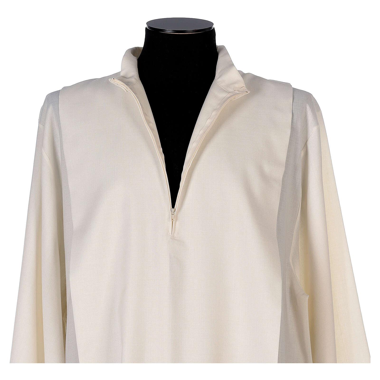 Camice 55% poliestere 45% lana righe oro avorio 4
