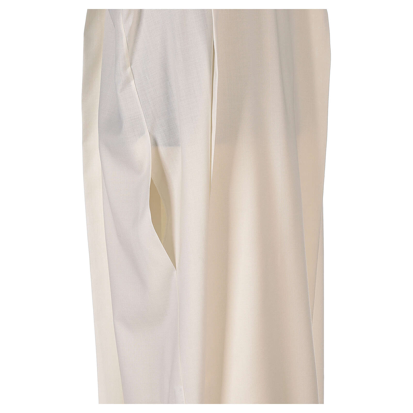 Alb 55% polyester 45% wool striped gold ivory 4