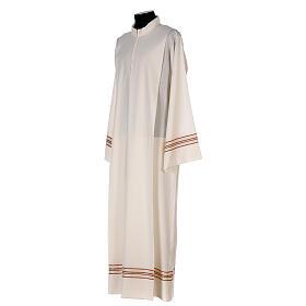 Alba 55% poliéster 45% lana rayas oro rojas s3
