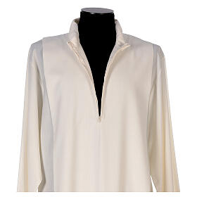 Alba 55% poliéster 45% lana rayas oro rojas s4