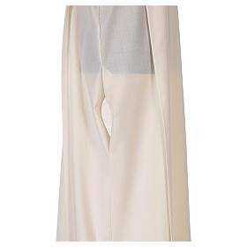 Alba 55% poliéster 45% lana rayas oro rojas s7