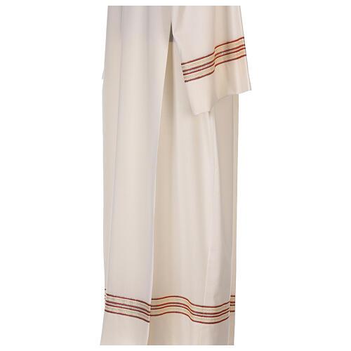 Alba 55% poliéster 45% lana rayas oro rojas 6