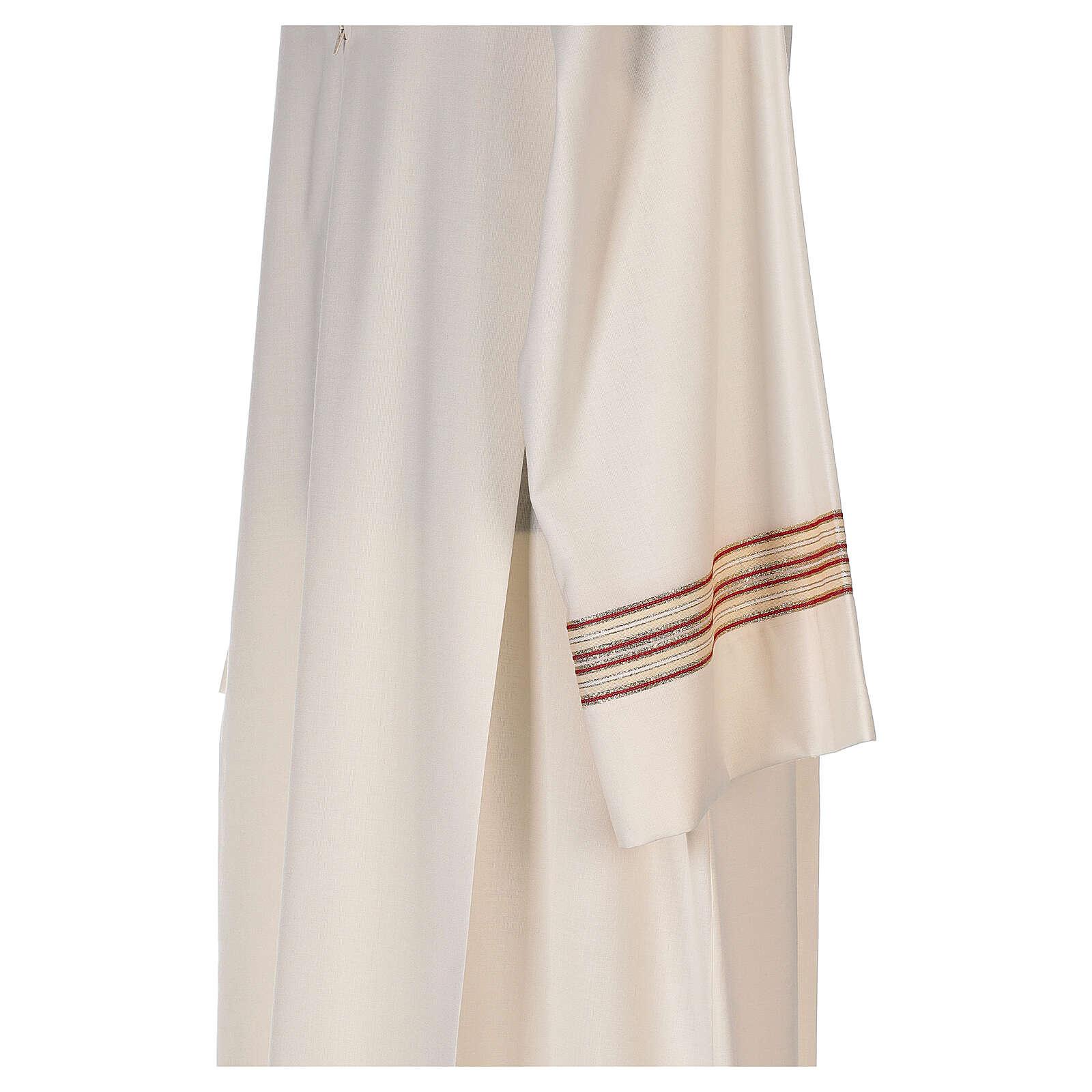 Camice 55% poliestere 45% lana righe oro rosse 4