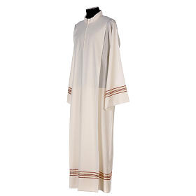 Priest alb 55% polyester 45% wool striped gold red s3