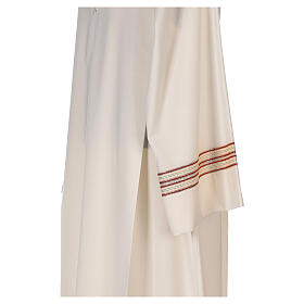 Priest alb 55% polyester 45% wool striped gold red s5