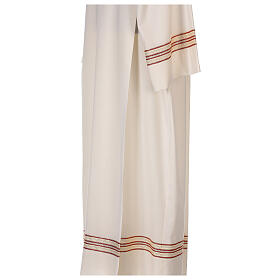 Priest alb 55% polyester 45% wool striped gold red s6
