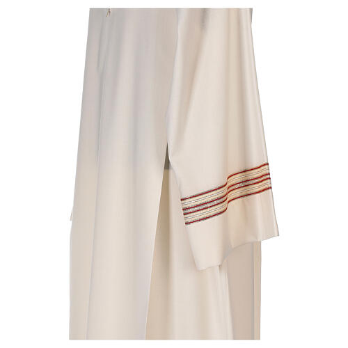 Priest alb 55% polyester 45% wool striped gold red 5